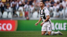 Cristiano debutó con la Juventus en Turín y tampoco marcó. (AFP)