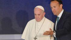 El papa este sábado en Irlanda (AFP).