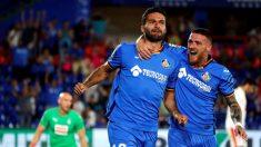 Jorge Molina celebra su gol ante el Eibar. (EFE)