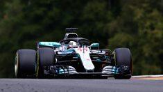 Lewis Hamilton, en el GP de Bélgica. (Getty)