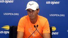 Rafa Nadal durante una rueda de prensa en el US Open. (Getty)