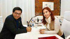 Pisarello en su reunión con Fernández de Kirchner