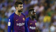 Gerard Piqué, durante un partido reciente. (AFP)