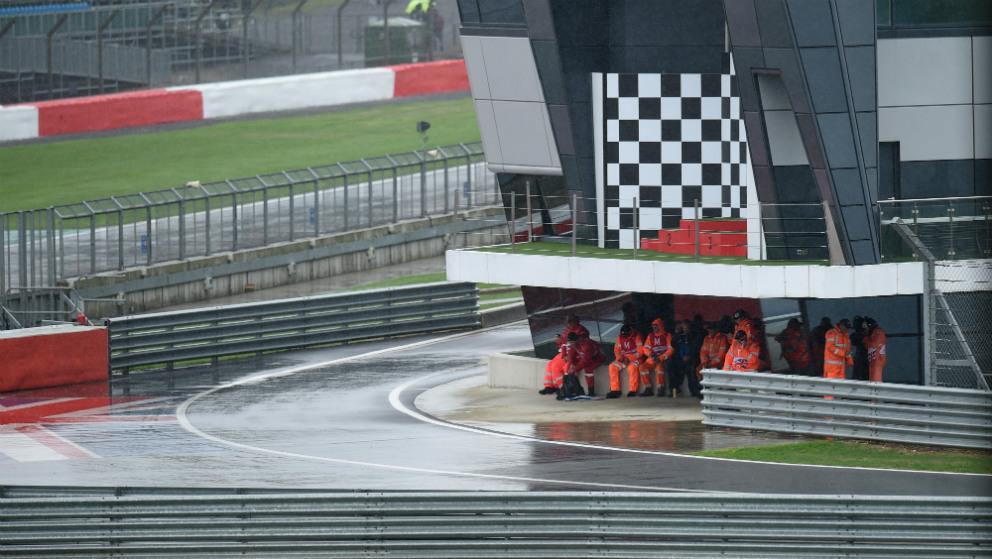El Gran Premio de Gran Bretaña de MotoGP se cancela por la lluvia. (AFP)