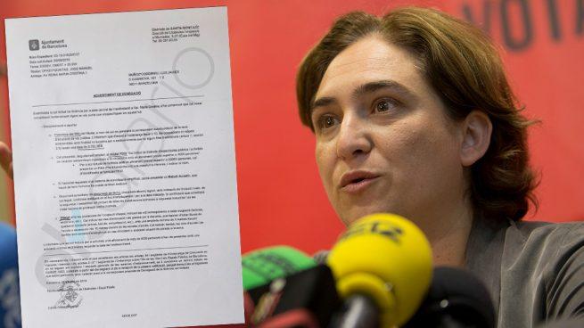 Colau boicotea la manifestación por España del 9-S imponiendo requisitos y plazos imposibles
