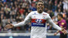 Mariano Díaz celebra un gol con el Lyon. (AFP)
