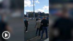 """Marcha de """"caza al extranjero"""" en Chemnitz (Alemania)."""