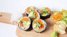 El cerdo que come sushi vegano enamora Facebook