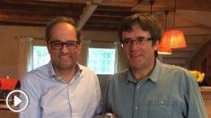 Torra y Puigdemont en una imagen reciente (RRSS).