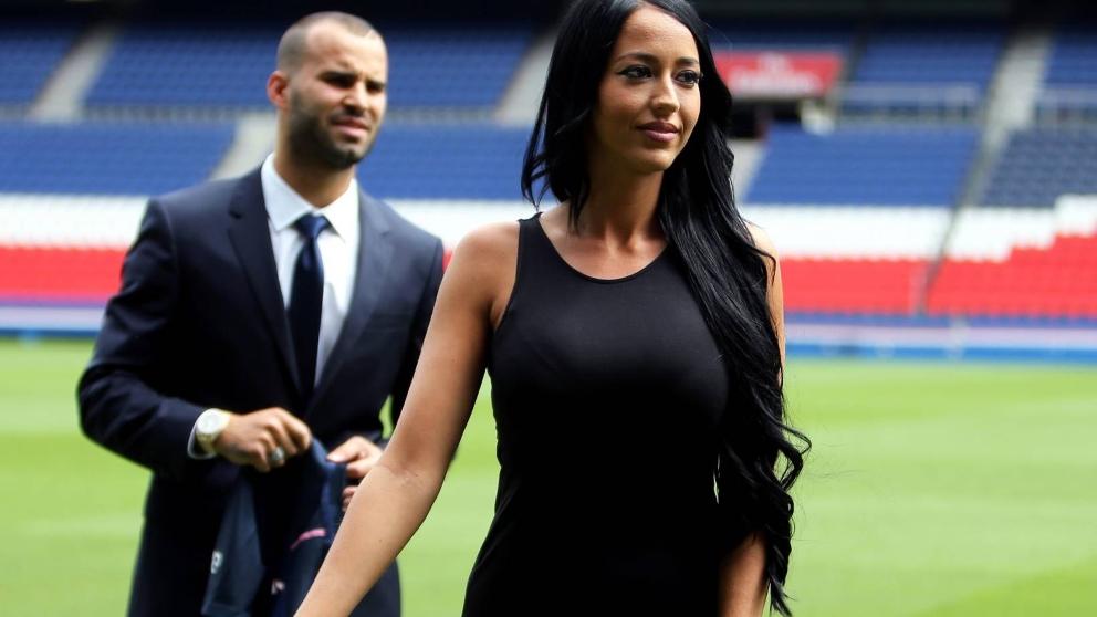 Aurah y Jesé, en la presentación del jugador con el PSG.