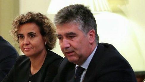 Dolors Montserrat e Ignacio Cosidó, portavoces del PP en el Congreso y el Senado. (EP)