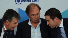 Ignacio Cosidó, Pío García-Escudero y Teo García Egea