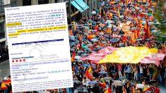 """Comunicado interno de Mossos para vigilar la """"actitud reivindicativa"""" en la manifestación de C´s"""