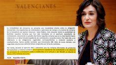Carmen Montón y un detalle de la auditoría