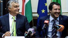 Viktor Orban y Matteo Salvini (Foto: AFP)