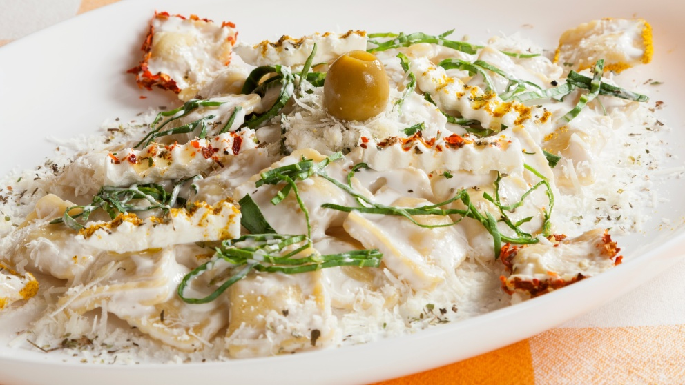 Receta de raviolis de queso de cabra