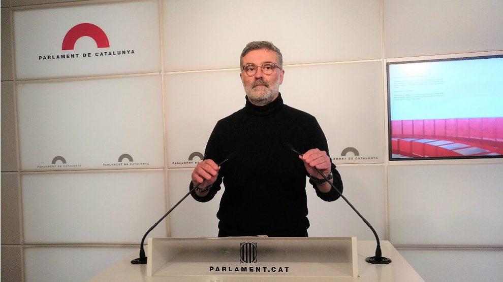 Carles Riera, portavoz de la CUP en el Parlament. (EP)