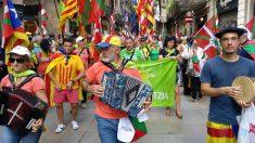 Marcha de la red separatista vasca Independentistak. (EP)