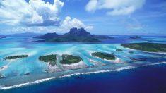 Las islas Fiyi en el mar del Pacífico.