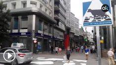 El Ayuntamiento podemita de La Coruña instala un paso de vaca
