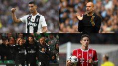 Cristiano Ronaldo, Pep Guardiola, Mbappé, Neymar, Cavani y James Rodríguez.