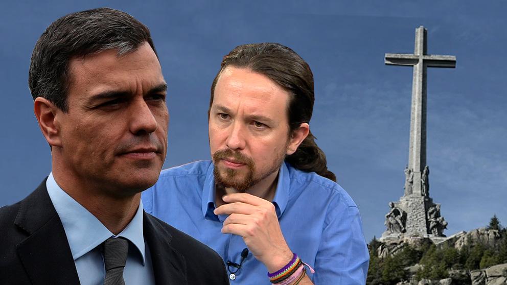 Pablo Iglesias y Pedro Sánchez discrepan sobre el futuro del Valle de los Caídos