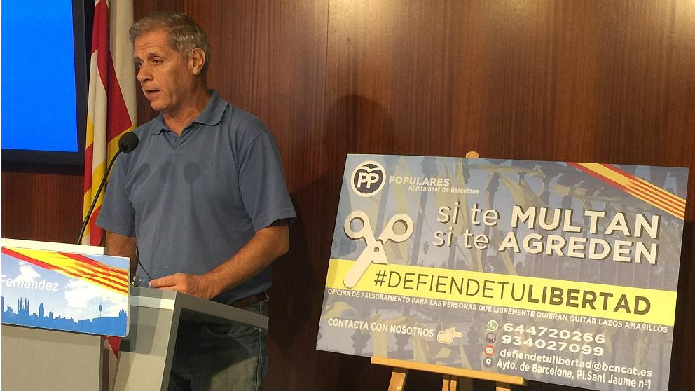 Alberto Fernández, líder del PP en Barcelona. (EP)