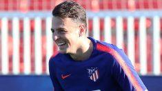 Santiago Arias, durante un entrenamiento con el Atlético de Madrid. (atleticodemadrid.com)