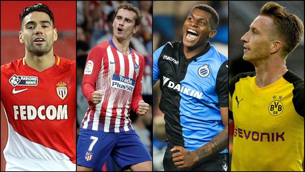Borussia Dortmund, Mónaco y Brujas, rivales del Atlético en la Champions League 2018.