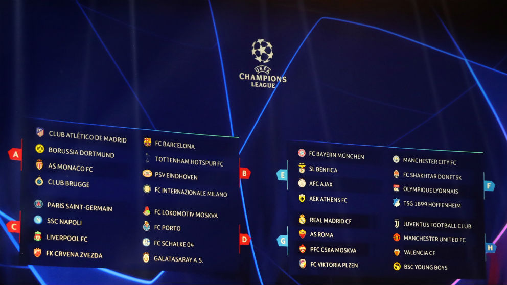 Calendario y horario de los partidos de la fase de grupos de la Champions League. (AFP)