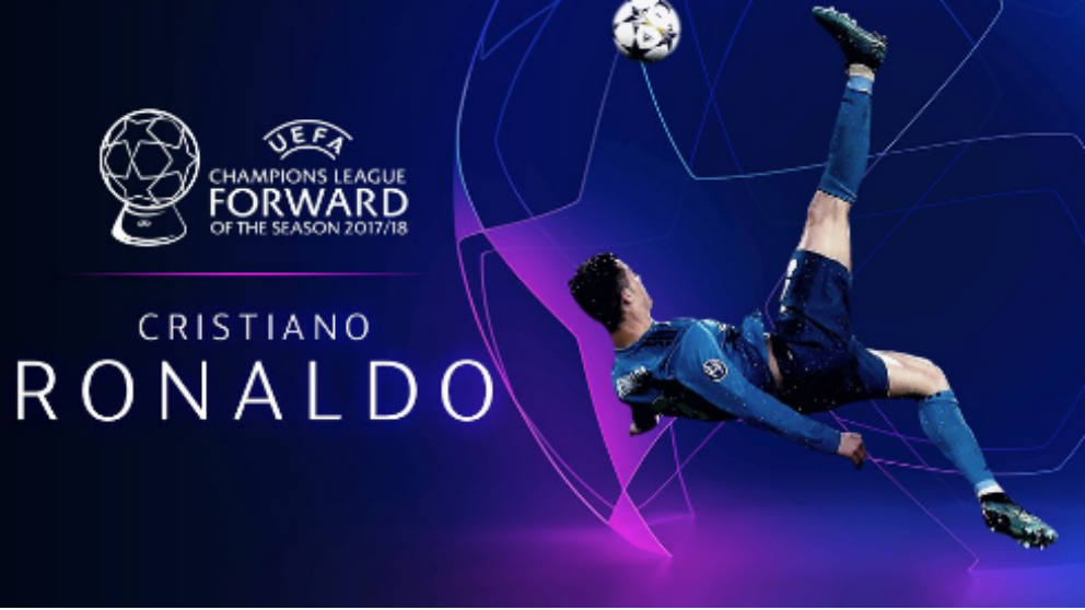 Cristiano Ronaldo, mejor delantero de la UEFA.