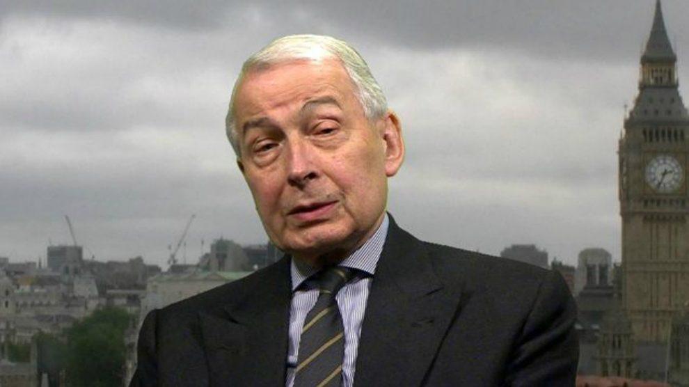 Frank Field, ex coordinador del grupo laborista en el Parlamento de Westminster.