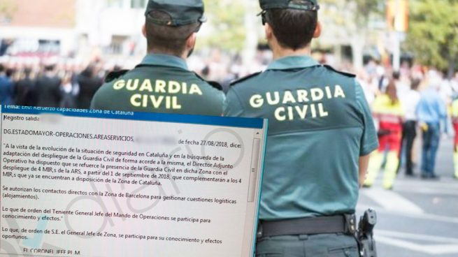 La Guardia Civil recibe orden de reforzar su presencia en Cataluña ante la «situación de inseguridad»