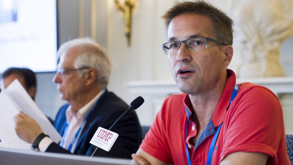 Josep Borrell y Gerald Knaus en el seminario