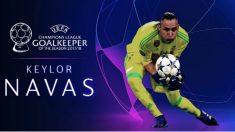 Keylor Navas se llevó el premio al mejor portero de la UEFA.