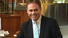 El empresario y ex militar suizoFrançois Meylan, presidente de la asociación Cataluña Pueblo de España.