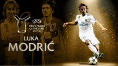 Modric se llevó el premio al mejor jugador del año de la UEFA 2018.
