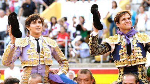 Roca Rey y El Juli salen a hombros este jueves en Palencia (Foto: EFE).