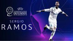 Ramos, premio al mejor defensa de la UEFA 2018.