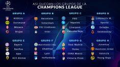 Así quedan los grupos de la Champions League.