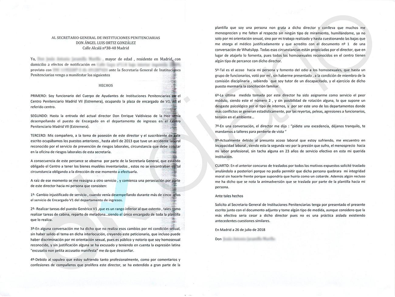 Un alto cargo de prisiones de Grande-Marlaska es denunciado por ...