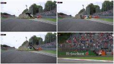 El tremendo accidente de Ericsson en los libres del Gran Premio de Fórmula 1. (Movistar+)