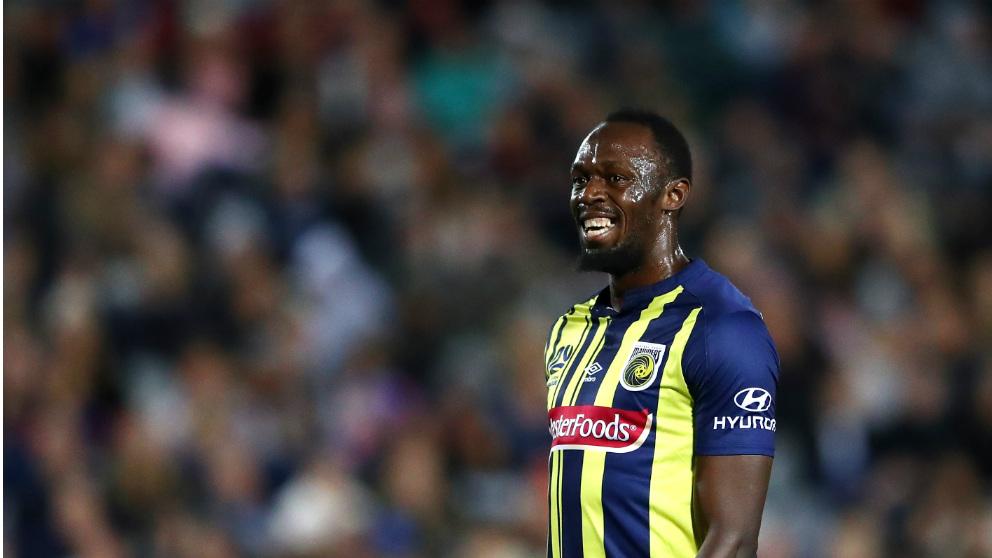 Usain Bolt debutó como futbolista profesional en Australia. (Getty)