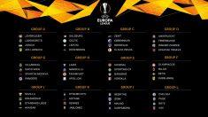 Así quedan los grupos de la Europa League.