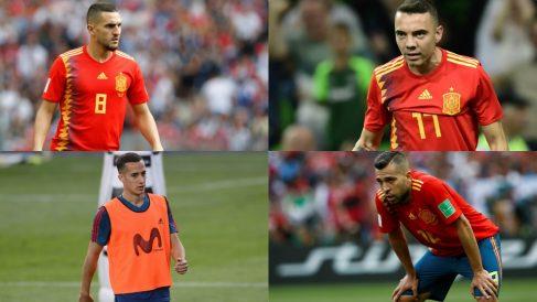 Koke, Iago Aspas, Lucas Vázquez y Jordi Alba.