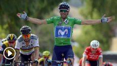 Alejandro Valverde se impuso a Sagan en Almaden.