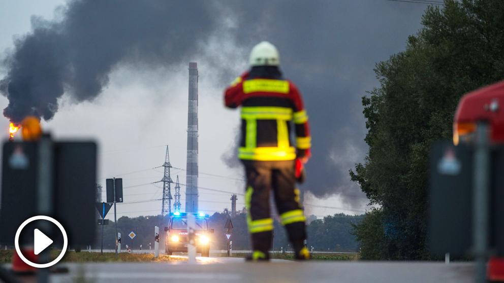 Explosión en una refinería en Alemania.