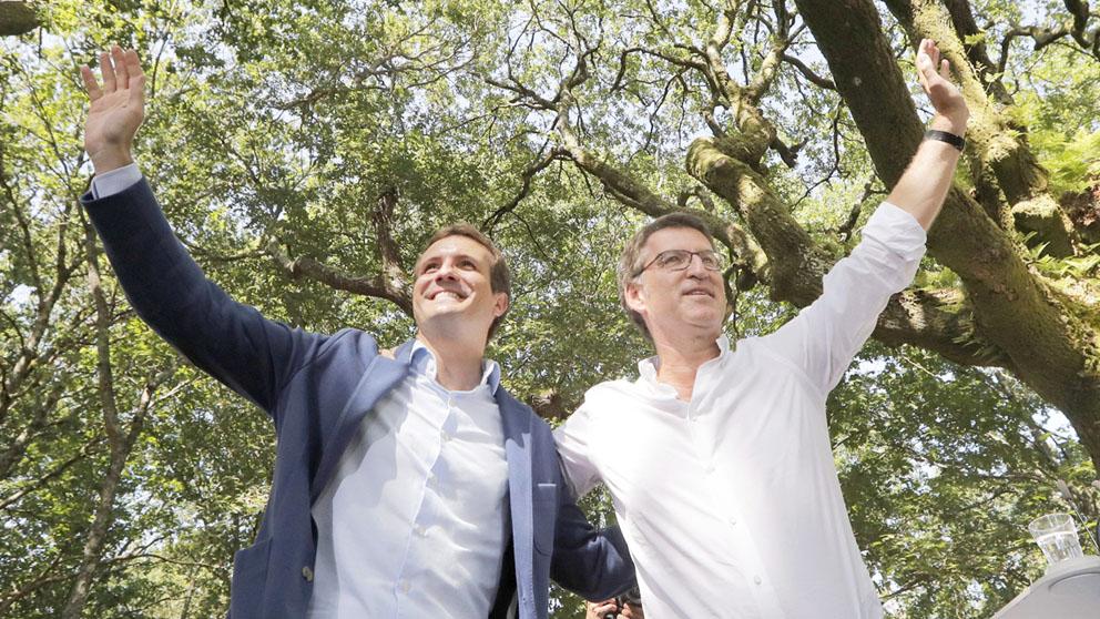 Pablo Casado y Alberto Nuñez Feijóo. (Foto: EFE)