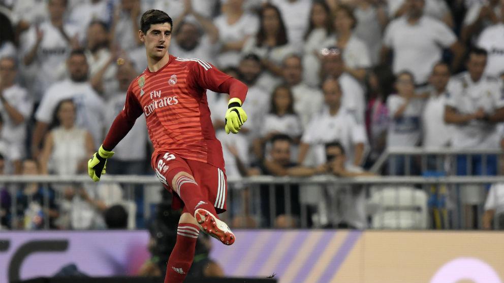 Courtois, en el Real Madrid – Leganés. (AFP)