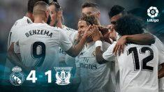 El Real Madrid venció (4-1) al Leganés gracias a los goles de Benzema, Bale y Ramos.